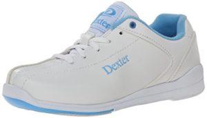 Dexter Raquel IV Chaussures de Bowling pour Femme – – Blanc/Bleu, 43 1/3 EU