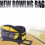 KXDLR Sac de Bowling 3 Boules avec Support rembourré pour Boules de Bowling