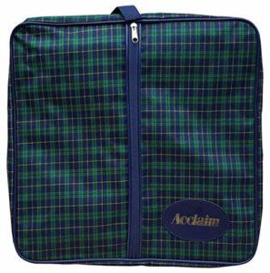 Tiree carré en nylon Vert/bleu marine Tartan Greensider Rinksider Sac de bowling pour vêtements Chaussures, Green/Navy Tartan