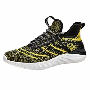 Vectry Noir Chaussure Homme Fitness Trail Chaussure Homme Chaussure Homme Cuir Chaussure Classique pour Homme Basket Homme Noir Chaussure Hommes Blanche Chaussures Classiques Chaussures Jaune