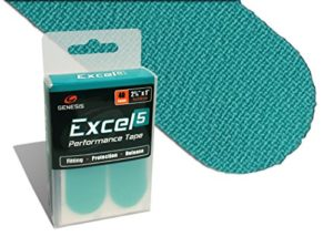 Genesis ExcelTM Performance Fitting, pouce, protection et Release Tape, Aqua – Excel 5.