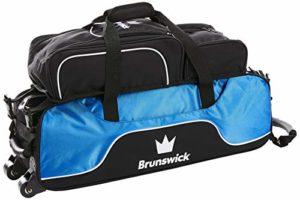 Brunswick Couronne Triple Tote Sac de Bowling avec Compartiment à Chaussures, Royal