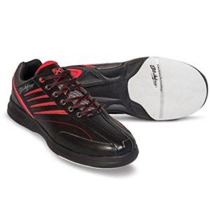 KR Strikeforce Cross Fire Lite Chaussures de bowling pour homme Noir/rouge, toutes les tailles pour droitier et gaucher, 44