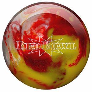 Pro Bowl Boule de Bowling en Polyester pour débutants et Professionnels, Rot/Gelb/Silber, 14 LBS