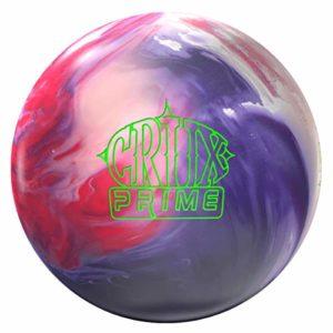 Storm Crux Prime, Rouge/Blanc/Violet Solide, Boule de Bowling réactive pour débutants et Joueurs de Tournoi – avec nettoyant de Balle EMAX 100 ML, 12 LBS