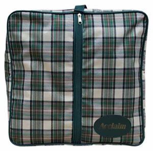 Tiree carré en nylon Vert/crème Tartan Greensider Rinksider Sac de bowling pour vêtements Chaussures, Green/Cream Tartan