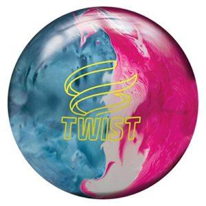 Brunswick Boule réactive de bowling Twist Bleu ciel/rose/neige Taille 11
