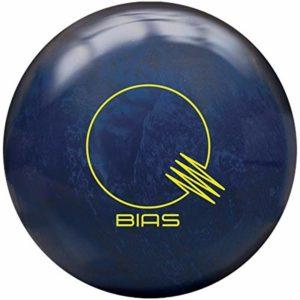 Brunswick Quantum Bias Pearl, Surface nacrée Bleue Verte et Verte, Boule de Bowling réactive pour débutants et Joueurs de Tournoi – Comprend Un nettoyant pour Ballon EMAX 100 ML, 15 LBS