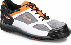 Dexter Chaussures de Bowling Dexter Chaussures de Bowling pour Homme, Homme, Blanc/Noir/Orange, 13 UK
