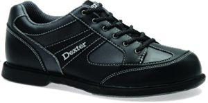 Dexter Pro Am II Chaussures de Bowling pour gaucher, Homme, 2255-1L, Noir/Gris, 10.5