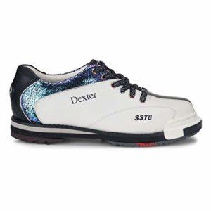 Dexter SST 8 Pro Chaussures de Bowling pour Femme Blanc/craquelé/Noir, Femme, DP0001304M-090, Blanc craquelé Noir, 7 UK
