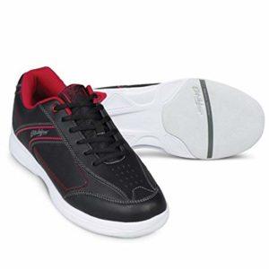 Emax KR Strikeforce Flyer Chaussures de bowling pour homme et femme pour droitier et gaucher 6 couleurs Pointure 38-48 au choix avec désodorisant à chaussures Titania Foot Care 44 Rouge Lite / noir.