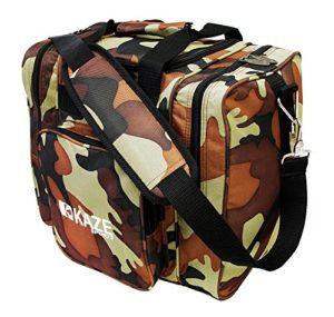 KAZE SPORTS Deluxe 1Boule de Bowling Sac fourre-Tout avec Deux Poches latérales, 1TT216-CA, Camouflage