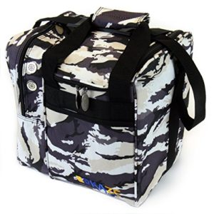 KAZE SPORTS Deluxe Single Boule de Bowling Sac fourre-Tout, KSB-1TT115-CAWT, Snow Camo