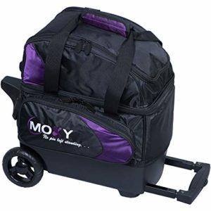 Moxy Unique Deluxe Sac de bowling à roulettes, violet/noir