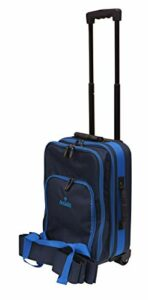 Acclaim St Andrews Sac de transport pour quatre boules de bowling avec housse imperméable Bleu marine/bleu ciel