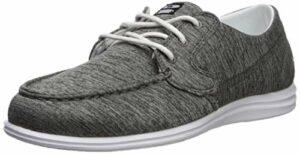 Brunswick Karma Chaussures de Bowling pour Femme Gris/Blanc Taille 7