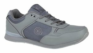 Dek Chaussures de bowling pour homme et femme – Gris – Dentelle grise pour homme., 42 1/3 EU