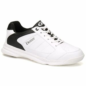 Dexter Bowling Dexter Ricky Iv Chaussures de Bowling Larges pour Homme Blanc/Noir, Homme, DXDM0000104W 065, Blanc/Noir, Size 6.5/ 2W
