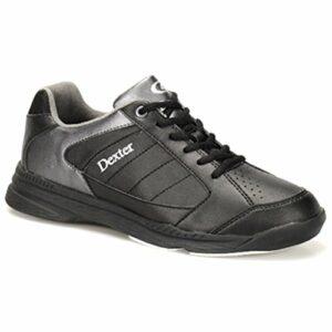 Dexter Bowling Dexter Ricky Iv Chaussures de Bowling Larges pour Homme Noir/Alliage, Homme, DXDM0000198W 080, Alliage Noir, 7.5 UK