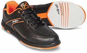 Emax KR Strikeforce Flyer Chaussures de bowling pour homme et femme pour droitier et gaucher 6 couleurs Pointure 38-48 au choix avec désodorisant à chaussures Titania Foot Care 38,5 Orange.