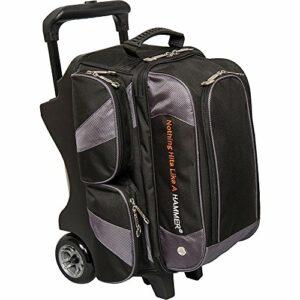 Hammer Premium Double Sac de Bowling à roulettes, Noir/Carbone