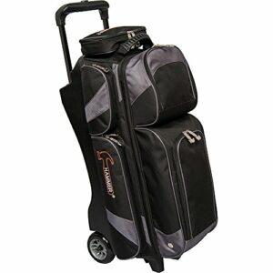 Hammer Premium Triple Sac de Bowling à roulettes, Noir/Carbone