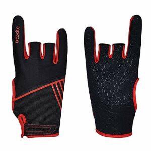 JJZD Gants de sport antidérapants et respirants avec pointage des doigts pour bowling – Pour l'intérieur et les loisirs – Couleur : rouge, taille : S