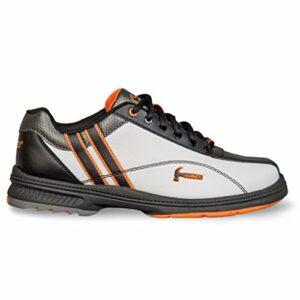 KR Strikeforce Marteau Vixen Femme Blanc/Noir/Orange pour gaucher Chaussures de Bowling, Femme, KRL907L 075, White/Black/Orange, Size 7.5