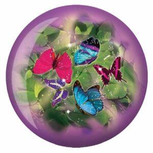 Brunswick Papillons Glow Viz-a-ball, Brunswick Bowling Products, violet/vert, 6 lbs