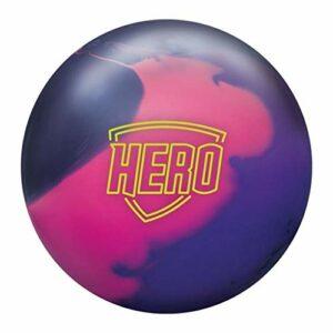 Brunswick Unisexe Hero Solid Boule de bowling 6,4 kg Noir/rose/violet
