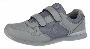 Dek Drive & Jack Chaussures de Bowling pour homme, Grey – Velcro, 9 UK