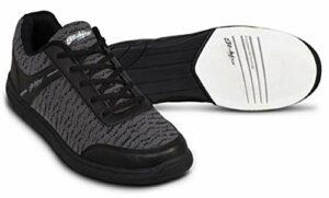 Emax KR Strikeforce Flyer Chaussures de bowling pour homme et femme pour droitier et gaucher 6 couleurs Pointure 38-48 au choix avec désodorisant à chaussures Titania Foot Care 41 Maille noire
