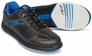 Emax KR Strikeforce Flyer Chaussures de bowling pour homme et femme pour droitier et gaucher 6 couleurs Pointure 38-48 au choix avec désodorisant à chaussures Titania Foot Care 44 bleu
