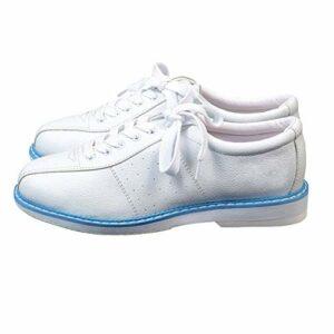 Gogdog Chaussures de bowling blanches pour hommes et femmes unisexes – Sport débutant – Chaussures de bowling