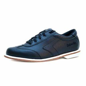 Bowlio Nero – Chaussures de Bowling en Cuir Noir – Adulte et Enfant, Pointure:38, Farbe (Schuhe):Noir