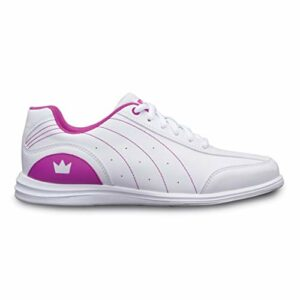 Brunswick Bowling Products Femmes Chaussures de Bowling Mystique Blanc/Fuschia 9 1/2 B US, Femme, BRU5811020924540, Blanc Fuchsia, 6.5 UK