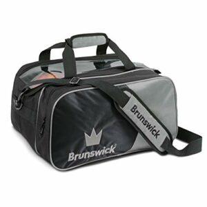 Brunswick Crown Double sac de bowling avec porte-adresse Argenté