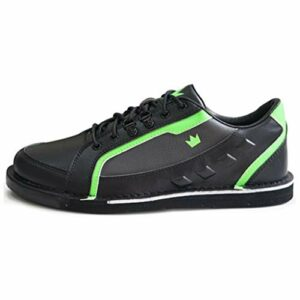 Brunswick Punisher Chaussures de Bowling pour Homme droitier Noir/Vert Fluo Pointure 41, Homme, BRU58506111RH24735, Noir/Vert Fluo, Taille 44
