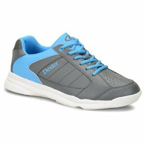 Dexter Ricky IV Jr Chaussures de Bowling pour Homme Gris/Bleu 3, Homme, DEXDY1081, Gris/Bleu, 1 UK