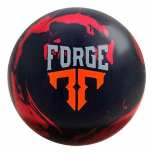 Forge de motivation, mixte adulte, Motiv Forge Bowling Ball- Red/Black Solid 13lbs, Red/Black/Solid, 13