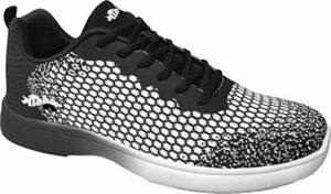 Aloha HexaGo Chaussures de bowling pour homme et femme Pointure 35-49 – Multicolore – noir/blanc, 35 EU