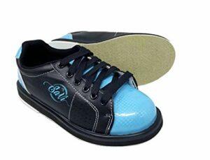 SaVi Chaussures de Bowling Classiques pour Femme Bleu Clair/Noir à Lacets avec Semelles universelles pour droitiers ou gauchers de débutants aux Professionnels, Bleu (Bleu), 38 EU