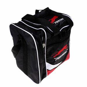 SM SunniMix Bowling Ball Tote Bag Sac à Main/Sac à Bandoulière avec Compartiment 28×23.5x31cm – Noir Rouge, 28×23.5x31cm