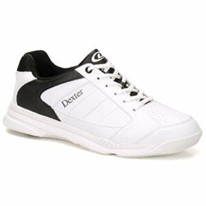 Dexter Bowling Dexter Ricky Iv Chaussures de Bowling pour Homme Blanc/Noir, Homme, DEXDM10415, Blanc/Noir, 14.5 UK