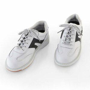 FJJLOVE Chaussure De Bowling pour Hommes, Chaussures De Sport De Marche Légère Chaussures De Sport en Cuir Décontracté,Blanc,39