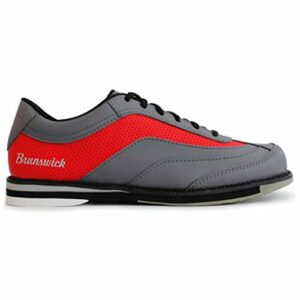 Brunswick Bowling Products Mens Rampage Bowling Chaussures Droitier Gris/Rouge 10,5 M US, Homme, BRU58402104RH24608, Gris Rouge, 11 UK