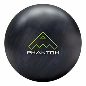Brunswick Vintage Phantom Boule de bowling Noir/gris acier, mixte adulte, Brunswick Vintage Phantom Bowling Ball- Black/Steel Grey 16lbs, Black/Steel Grey, 16