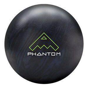 Brunswick Vintage Phantom Boule de bowling Noir/gris acier, mixte adulte, Brunswick Vintage Phantom Bowling Ball- Black/Steel Grey 16lbs, Black/Steel Grey, 16