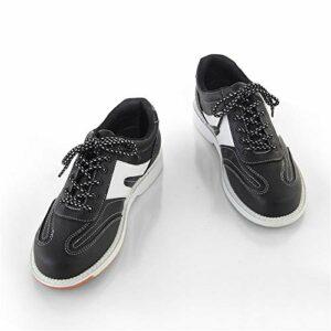 FJJLOVE Bols pour Hommes Chaussures, Baskets De Bowling Légers Unisex Soupes De Bowling Plats Antidérapants,Noir,38